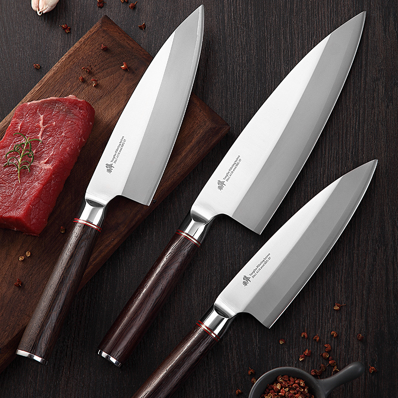 Japanese Deba Fish head knife Salmon knife Sashimi Sushi Cooking Filleting Knives Sushi Cleaver Salmon Sllicing