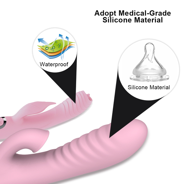 Double penetration AV Vibrator sex toys for woman with nipple clitoris sucker G spot dildo for adult Vaginal masturbator 4
