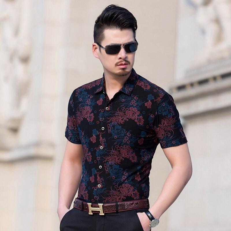 Buy kuyomens mens hawaiian shirt 2017 men for Plus size men shirts