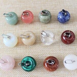 Image 2 - Pendentifs en pierres naturelles pour pomme, colliers à fruits, 2018, bijoux à breloques, 12 pièces, livraison en gros