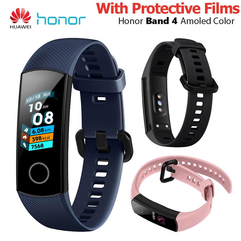 Tragbare Geräte Huawei Honor Band 4 Smart Armband Amoled Farbe 0,95 touchscreen 5atm Wasserdichte Swim Herz Rate Schlaf Snap Smart Armband Auf Dem Internationalen Markt Hohes Ansehen GenießEn Unterhaltungselektronik