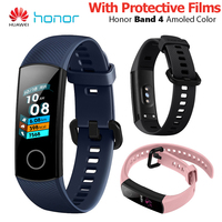 Huawei Honor Band 4 Smart Wristband Amoled Color 0.95 Touch Screen 5ATM Waterproof Swim Heart Rate Sleep Snap Smart Bracelet