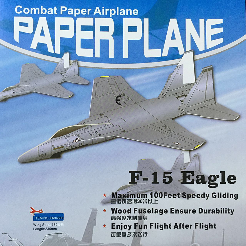 Free Shipping F-15 Eagle Combat Paper Airplane DIY Combat Glider Assembly plane model puzzle children gift Educational Toys ...