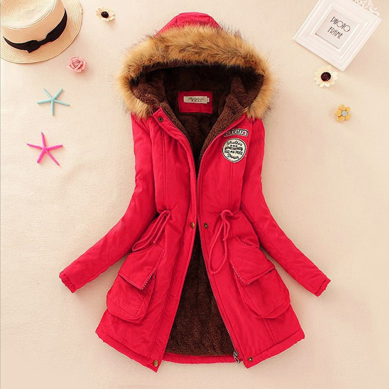 1cbb013f4 US $16.9 20% OFF|Saimishi Autumn Winter Jacket Women Parka Warm Jackets Fur  Collar Coats Long Parkas Hoodies Office Lady Cotton Plus Size-in Parkas ...