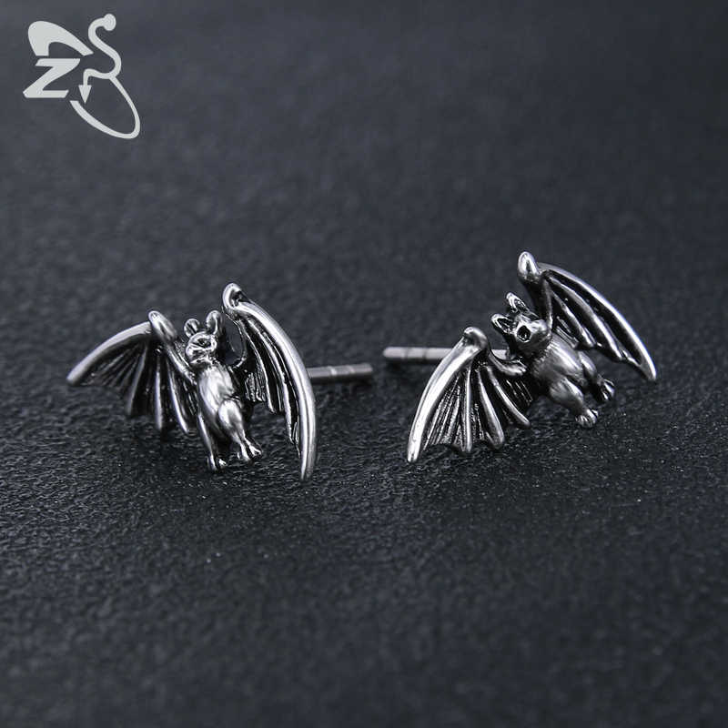 d7ac2c3f3 ... ZS Punk Stud Earrings for Men Bat Animal Jewelry for Men Gothic Style Earrings  Jewelry Gift ...