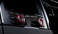 Red Inner Speaker Knob Cover Trim 2pcs For Porsche Panamera 970 2010 2015