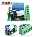 5Pcs/lot DC12V 10A 1CH 433MHz Wireless Relay RF Remote Control Switch Receiver Free Shipping