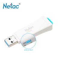 Netac U335S USB 보호 쓰기 보안 플래시 드라이브 Pendrive 16 그램 32 그램 64 그램 메모리 USB3.0