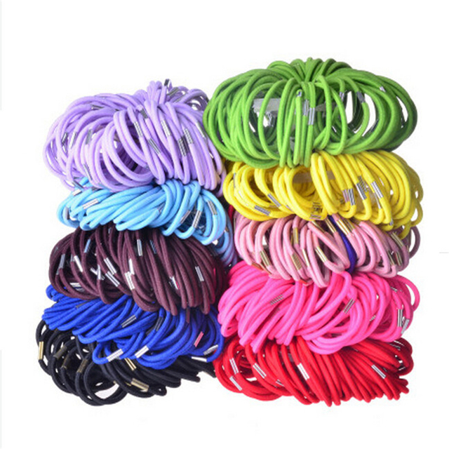 10pcs/lot  Black And Candy Colored Hair Holders