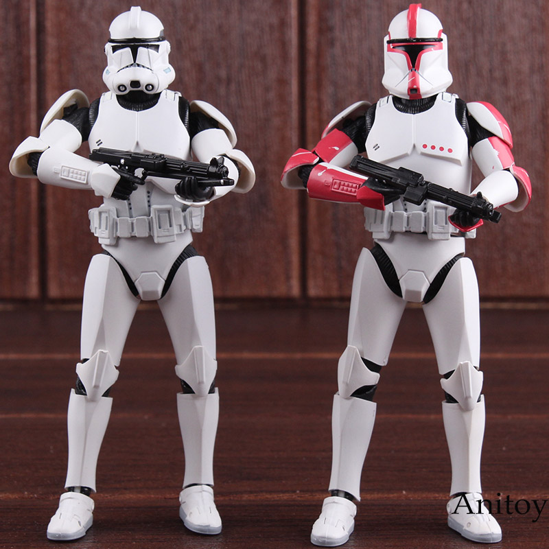 Star Wars SHF Figures Clone Trooper PHASE II / PHASE I Captain PVC Action Figure Collectible Model Toy 15cm