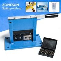 Aluminum Tube Sealing Machine Teeth Paste Tube Sealer Aluminum Stamping Sealer With Expiration Codes Manual Sealer