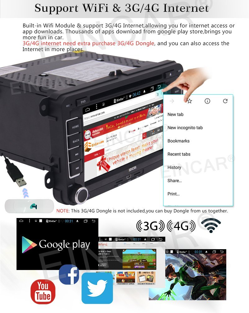 Беспроводной камера + GPS навигации для стерео двойной DIN Bluetooth FM AM радио USB SD музыки 7 Android 6.0 Sat Nav для VW