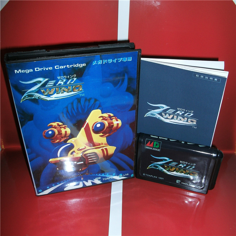 Zero Wing Japan Cover with box and manual for Sega MegaDrive Genesis Video Game Console 16 bit MD card