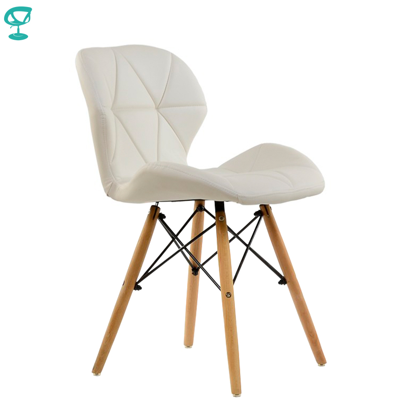 95214 Barneo N-42 Eco-Skin Wood Kitchen Breakfast Interior Stool Bar Chair Kitchen Furniture White Free Shipping In Russia