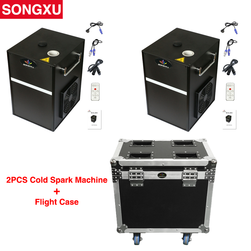 Flight Case 2in1 400W Cold Spark Firework Machine 400W Electric Cold Spark Firewoek fountain for Club