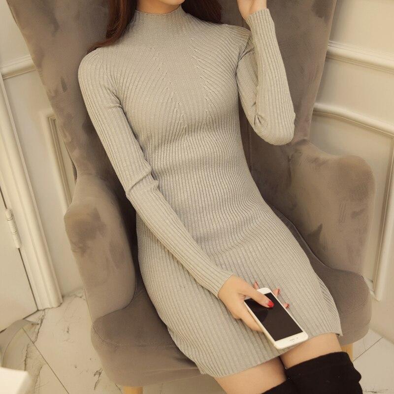 6044 koreai női női pulóver Turtleneck ing fél - Női ruházat - Fénykép 4