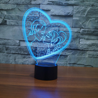 Valentine Love Night Light Designs Romantic Led Table Lamp Night Lighting 7 Color Changing Led Lights for gifts