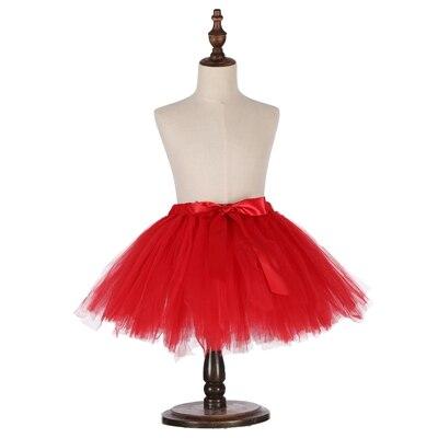 Милые пышные мягкие фатиновые юбки-пачки для малышей; юбка-американка для дня рождения для новорожденных; юбки-пачки для девочек; детские юбки-пачки; одежда для малышей - Цвет: Красный