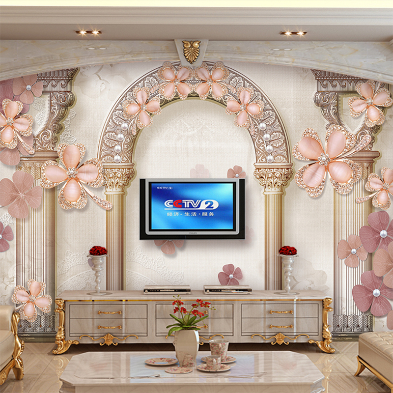 Us 9 04 46 Off Customize Any Size Photo Wallpaper European Style Roman Column Large Mural Living Room Tv Home Decor Waterproof Wall Paper In