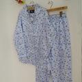 La primavera y el otoño femeninos de Algodón azul Pijama De Raso
