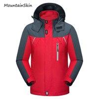 Mountainskin 2017 New Men's Jacket Spring Autumn Male Coats Waterproof Windbreaker Breathable Hooded Jacket Men Branded LA199