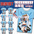 2016 Short Sleeve live love T Shirts total 9 styles Navy Awake printing High Quality o-neck Free shipping