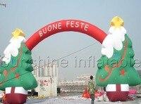 Гигантская Рождественская елка надувной арки, надувная Рождественская арка для событий украшения