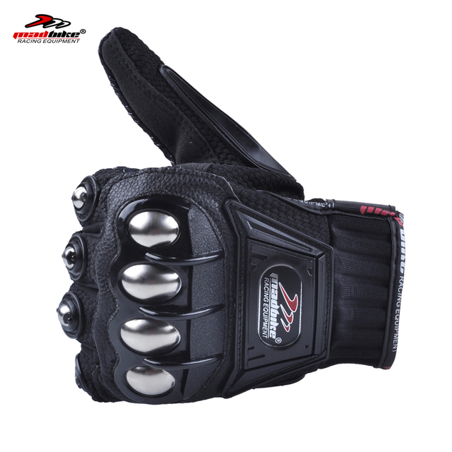 Madbike motorcycle gloves summer motorbike motocross gloves xxl motocicletas mesh gloves fingers luvas para moto guanti black