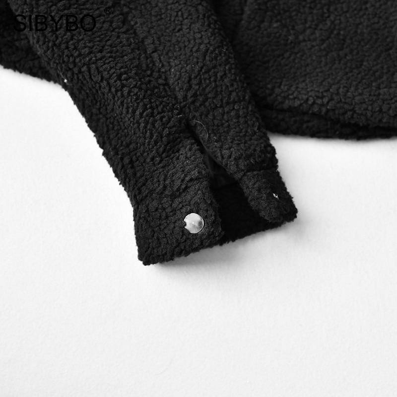 HTB1HncEKb1YBuNjSszeq6yblFXaV SIBYBO Teddy Cozy Autumn Winter Women Coats and Jackets Long Sleeve Slim Crop Top Women Pockets Warm Casual Short Jacket Women