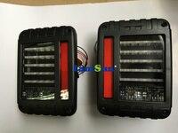 זוג מכירה חמה ABS שחור מהדורה אירופאית אמבר אורנג '2007 ~ 2015 רנגלר JK reverser בלם הפעל אותות אור זנב LED אחורי ערכת