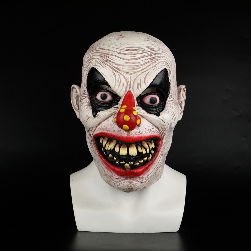 Latex Mask Carnival Costume Accessory Joker Novelty Halloween Party Head Mask  Fancy Dress Party Cosplay Mask (3)