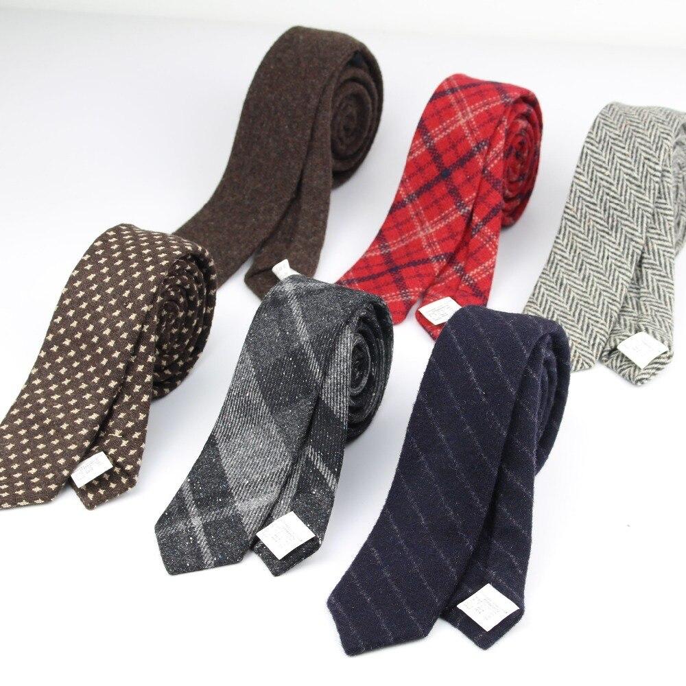 Kommerziellen Luxus 100% Wolle Krawatte Klassische Farbe Dick Winter Krawatte Mens Warme Krawatten Designer Handgemachte Europäischen Stil Krawatten Jahre Lang StöRungsfreien Service GewäHrleisten