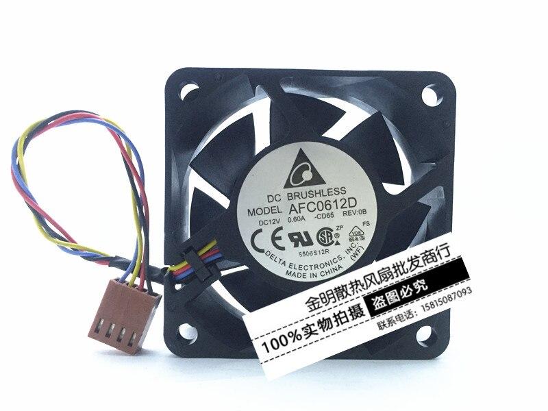 Delta Electronics AFC0612D -CD65 Server Square Fan DC 12V 0.60A 60x60x25mm 4-wire