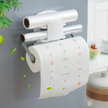 Top Adjustable White Towel Holders Paper Holder Magnet towel Racks Bathroom Paper Roll For Home / Kitchen Bathroom Accessories creative wall mounted bathroom roll paper towel racks home wall decoration solid wood paper towel racks bathroom accessories