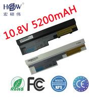 HSW 5200mAh laptop battery for Lenovo IdeaPad S100 S10 3 S205 S110 U160 S100c S205s U165 L09S6Y14 L09M6Y14 6 cells bateria