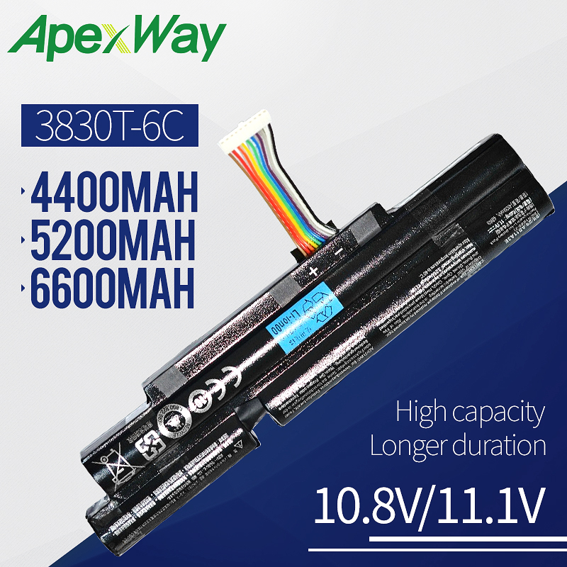 Apexway 6 Cells Laptop Battery For Acer Aspire TimelineX <font><b>4830TG</b></font> 5830T 3830TG 4830T 5830TG 3830T 3INR18/65-2 AS11A3E AS11A5E image
