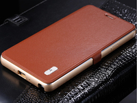 Original FINEDAY Aluminum Metal Frame Genuine Leather Protective Flip Magnetic Cover Case For Samsung Galaxy Note