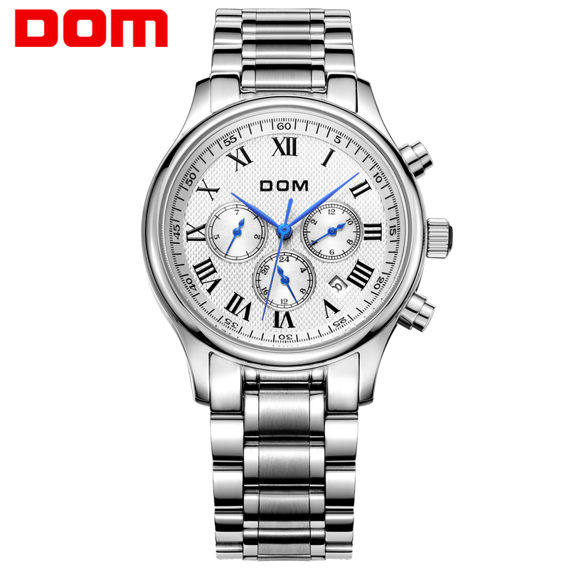 DOM men watches top brand luxury watch waterproof mechanical watch leather watch Business reloj hombre marca de lujo M-56 мужской ремень cinto couro marca