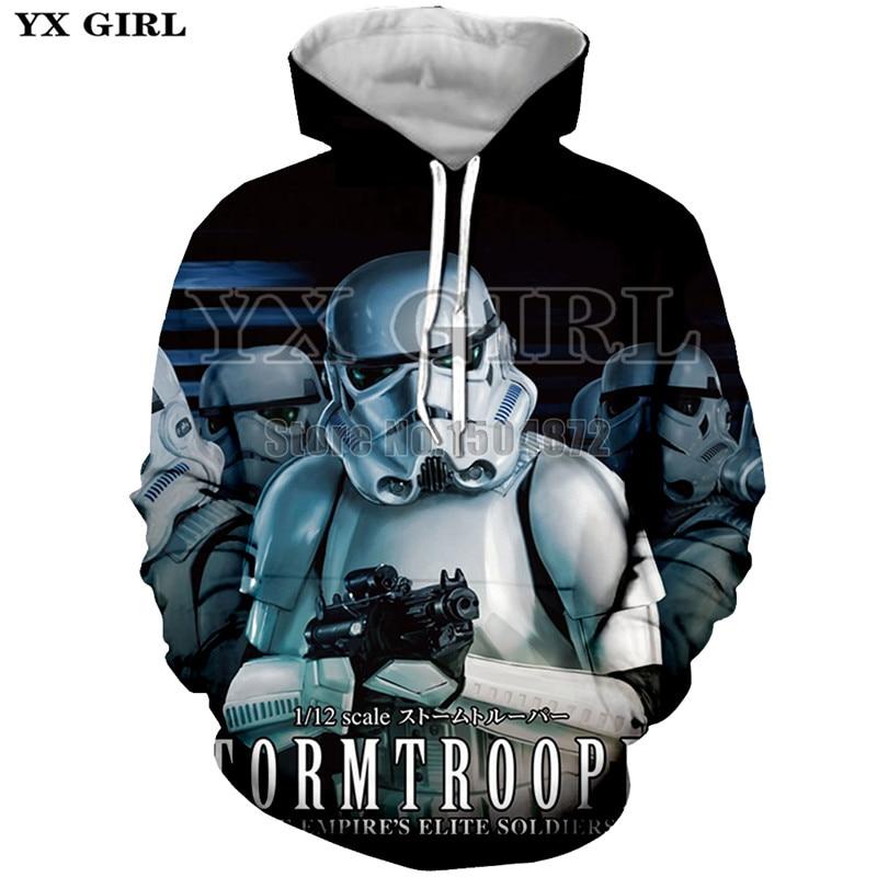 YX Girl Womens Mens Tracksuit 3d Print Clothes Men Women Star Wars Hoodie Sweatshirt Long Sleeve Hoodies Pullover Unisex Tops