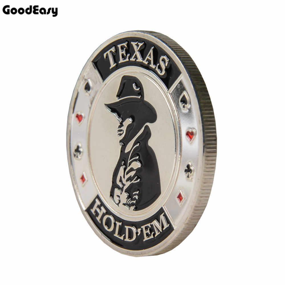 핫 포커 기념 코인 포커 카드 가드 수호자 금속 토큰 코인 텍사스 홀덤 포커 칩 딜러 버튼 실버 카우보이