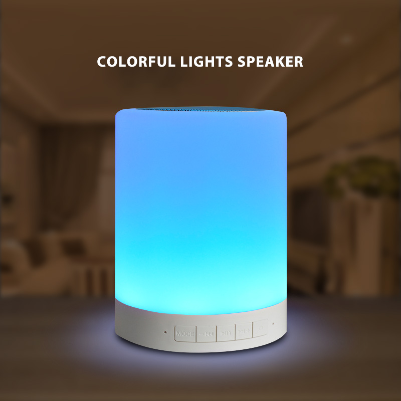 2018 Bluetooth Speaker Intelligent Mini LED Colorful Color Lamp BT Portable Speaker Touch Control and Button Control Night Light led touch color change night light motion sensor bedside lamp bluetooth speaker touch control support mobile phone app control