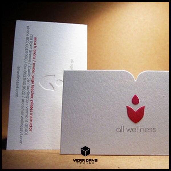 Haute Qualite Speciale Papier Personnalisee Cartes De Visite Logo Impression En Creux Relief Carte