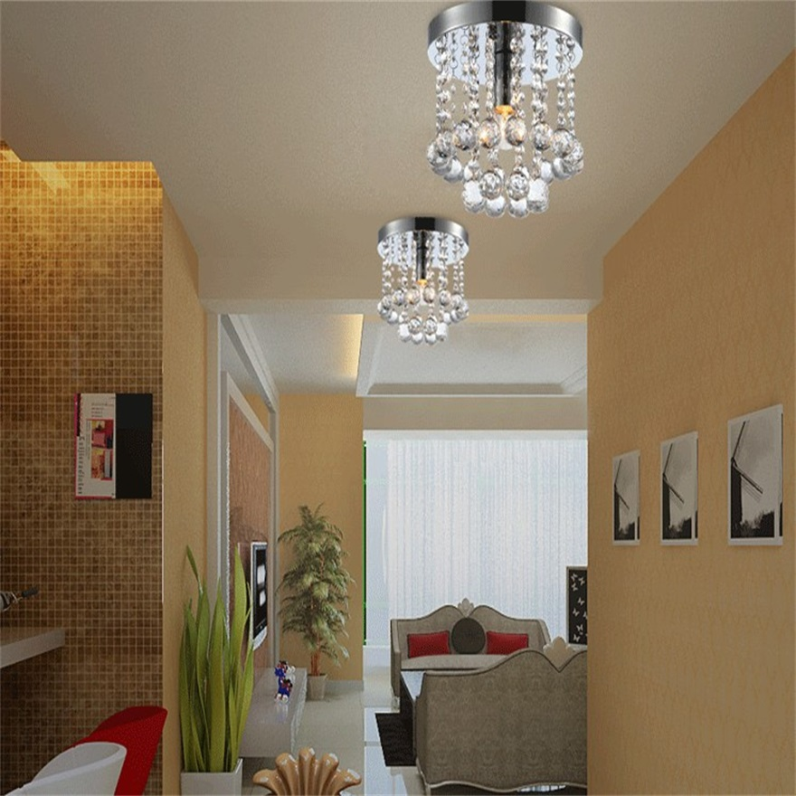 ФОТО Crystal Droplets Silver Chrome Ceiling Light Chandelier Fitting Lamp