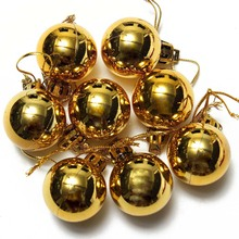 New 24PC Christmas Tree Decor Ball Bauble Hanging Xmas Party Ornament Decor Home Gold