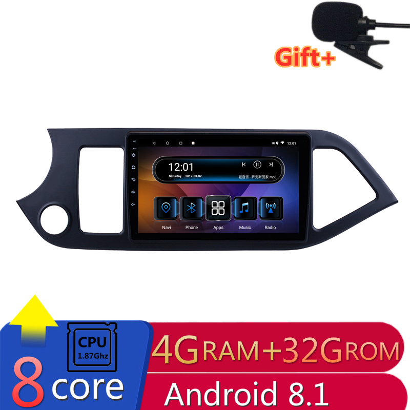 "9"" 4G RAM 8 cores Android Car DVD GPS Navigation for KIA morning Picanto 2011 2012 2013 2014 2015 radio audio stereo headunit"