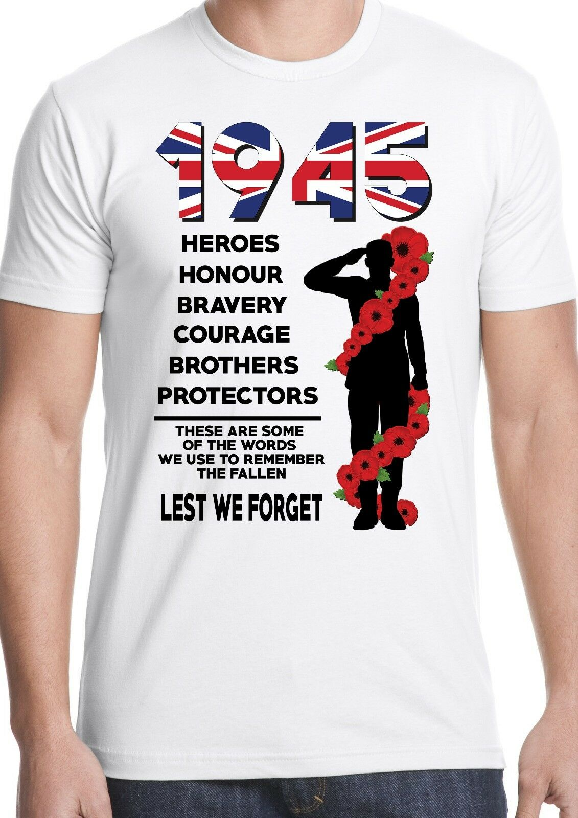 lest we forget t shirt world war 2 ww2 remembrance poppy heroes soldier army Comfortable t shirt,Fashion Style Men Tee