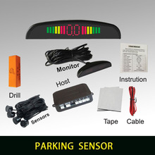 Buzzer car parking assistance with 4 sensors and LED display Reverse Backup Radar Alert Indicator System