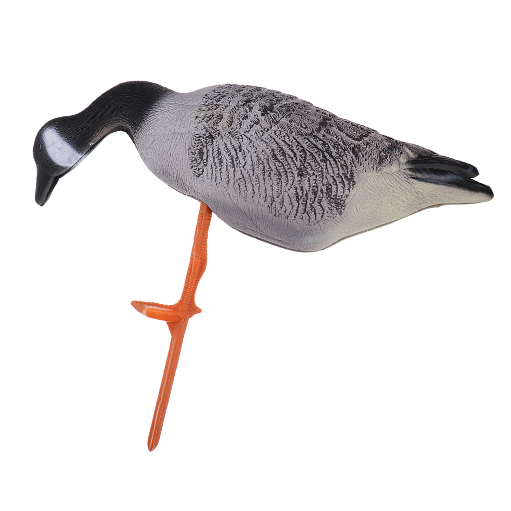 Durable Lifelike EVA Simulation Bait Goose Hunting Decoy Lawn Ornaments Eating Goose for Camping Hunting Tactical Accessories