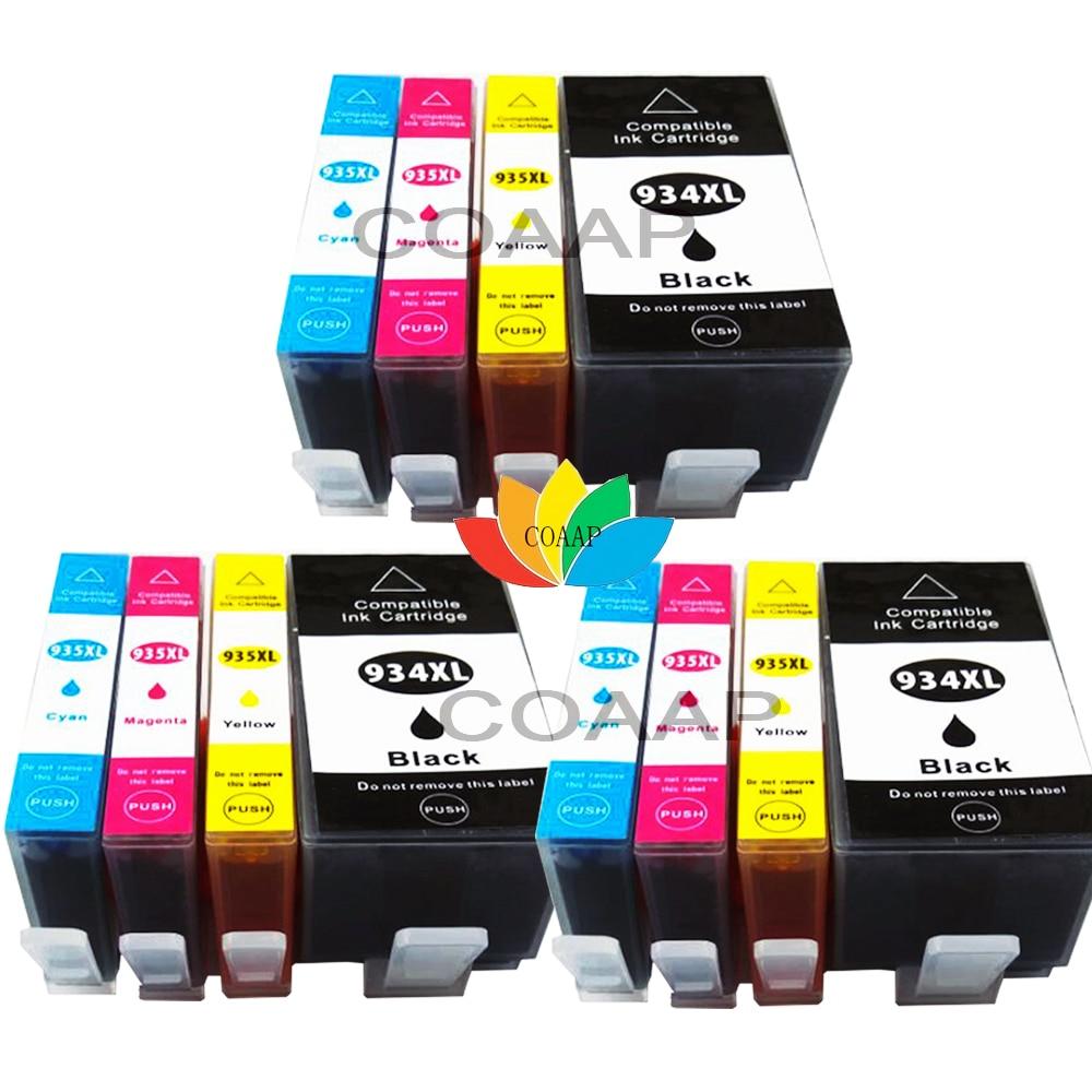 12 cartouches d'encre ébréchées compatibles pour HP Officejet Pro 6230 6830 6835 remplacer HP 934XL 935XL