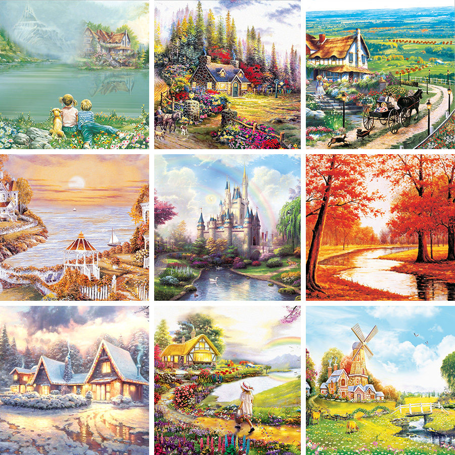 Jigsaw puzzle 1000 pieces Fantasy Landscapes kids puzzles educational toys for adults children toy home decoration collectiable 2